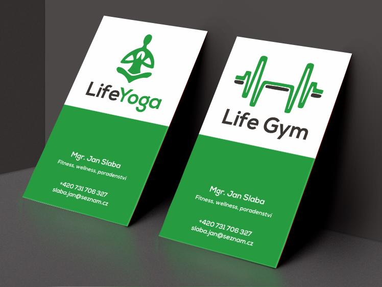 oboustranné vizitky life gym