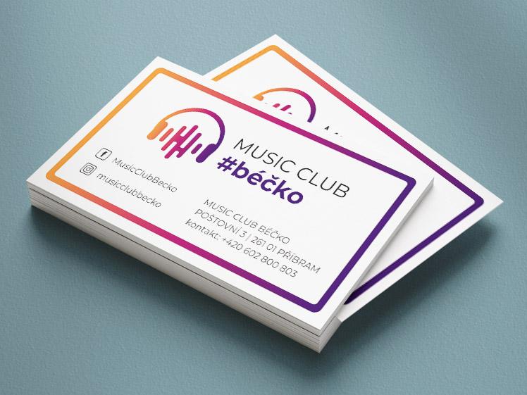 vizitky Music Club Béčko